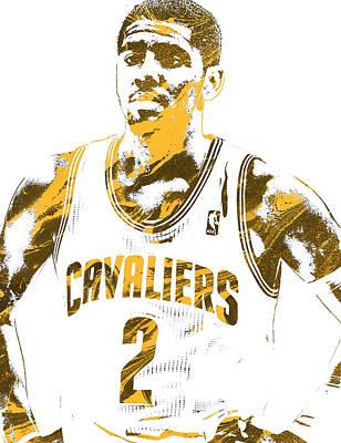 Mixed Media - Kyrie Irving Cleveland Cavaliers Pixel Art 3 by Joe Hamilton