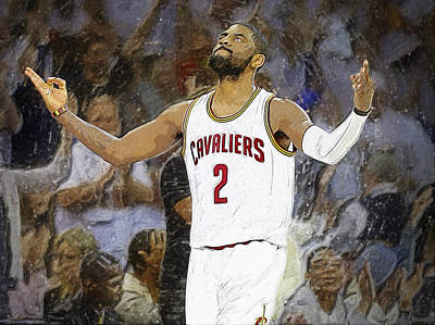 Lebron James Digital Art - Kyrie Irving by Semih Yurdabak