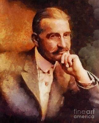 Famous Book Painting - L. Frank Baum, Literary Legend by Sarah Kirk