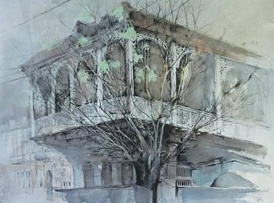 Tbilisi Drawing - L. Gudiashvili Sqr. by Anastasia Logvinenko