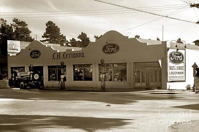 Photograph - L. H. Levinson  Ford Dealership Ocean Avenue Carmel Circa 1929 by California Views Archives Mr Pat Hathaway Archives