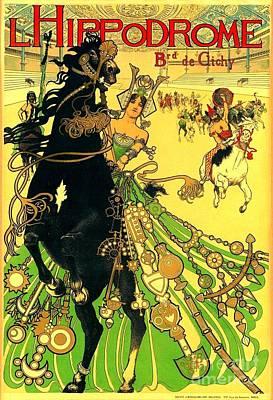 L Hippodrome 1905 Parisian Art Nouveau Poster Manuel Orazi 1905 Art Print