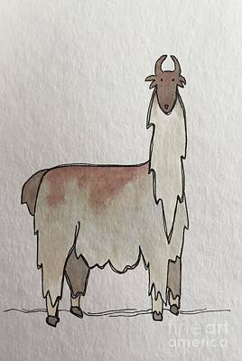 Painting - L Is For Llama by Tonya Henderson