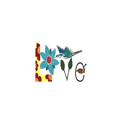 Digital Art - L Is For Love by Kathleen Sartoris