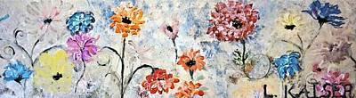 Flowers Painting - L Kaiser  by Lisa Kaiser