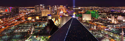 Vegas Lights Print by Mikes Nature