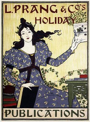 Mixed Media - L Prang And Co's Holiday Publications - Vintage Advertising Poster by Studio Grafiikka