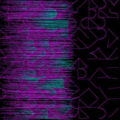Color Digital Art - l14-FF00DD-3x3-1200x1200 by Gareth Lewis