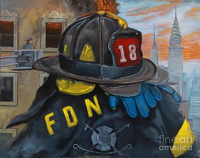 Fire Gear Painting - L18 by Mark Barrett