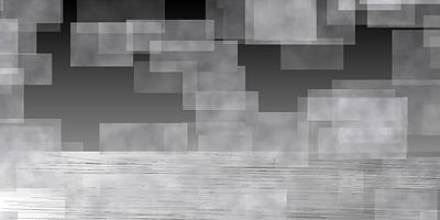 Cloudy Digital Art - L20-207 by Gareth Lewis