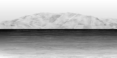 Mountain Digital Art - L21-51 by Gareth Lewis