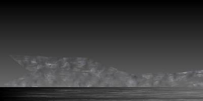 Mountain Digital Art - L21-77 by Gareth Lewis