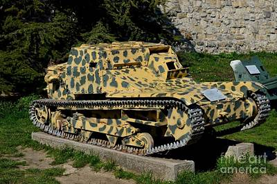Photograph - L3/35 Italian Built Light Armored Tank At Belgrade Military Museum Serbia by Imran Ahmed