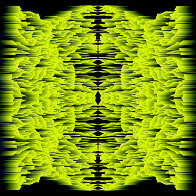 Blue Digital Art - L8-64-222-255-0-1600x1600 by Gareth Lewis