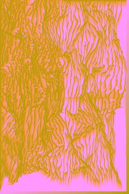 Red Digital Art - L9-74-181-158-0-254-152-255-2x3-1000x1500 by Gareth Lewis