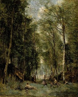Painting - La Bacchanal  by Camille Corot