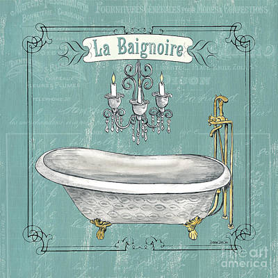 Powder Room Sinks Painting - La Baignoire by Debbie DeWitt