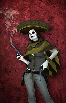 Digital Art - La Bandida Muerta by Jason Casteel