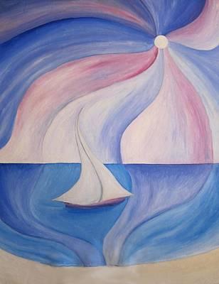 La Barca A Vela Art Print by Alberto V  Donati