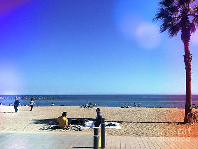 Photograph - La Barclenoneta City Beach by Colleen Kammerer