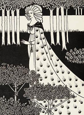 Fruits Drawing - La Beale Isolde by Aubrey Beardsley