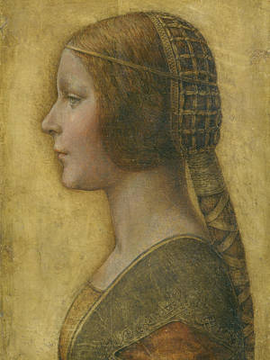 Da Vinci Drawing - La Bella Principessa - 15th Century by Leonardo da Vinci