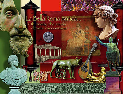 Digital Art - La Bella Roma Antica by Dean Gleisberg