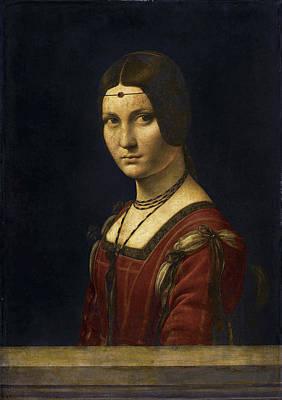 Painting - La Belle Ferronniere by Leonardo Da Vinci