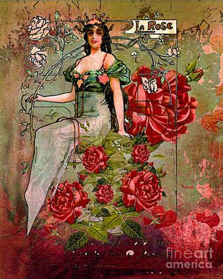Digital Art - La Belle Rose 2016 by Kathryn Strick