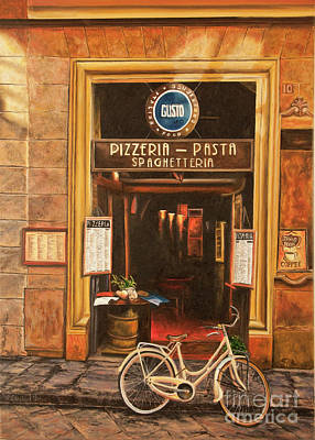 Painting - La Bicicletta by Charlotte Blanchard