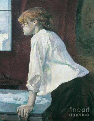 Hand Washing Painting - La Blanchisseuse by Henri de Toulouse-Lautrec