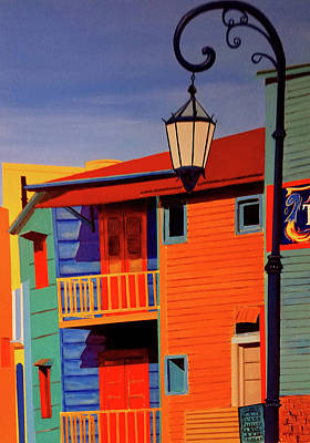 Painting - La Boca Cityscape #40 by JoeRay Kelley