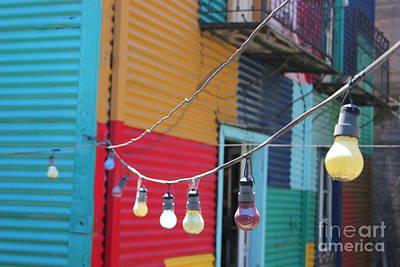 La Boca Lightbulbs Art Print