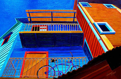 Painting - La Boca Looking Up by JoeRay Kelley