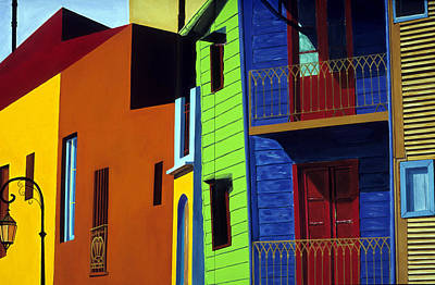 Painting - La Boca Street Scene One by JoeRay Kelley