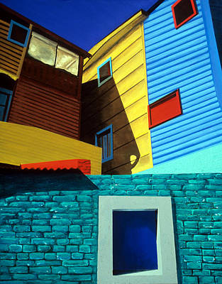 Painting - La Boca Street Scene Three by JoeRay Kelley