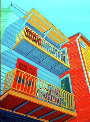 Painting - La Boca Upper Deck Parking by JoeRay Kelley