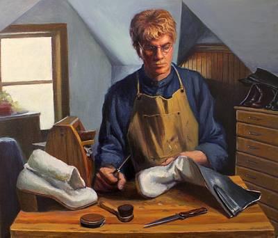 Shoe Repair Painting - La Bota by Lydia Martin