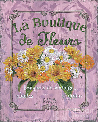 Yellow Daisy Wall Art - Painting - La Botanique 1 by Debbie DeWitt