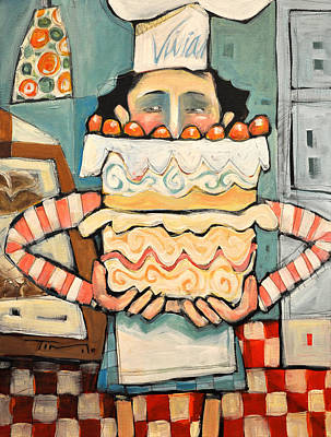 Painting - La Boulanger Francaise by Tim Nyberg