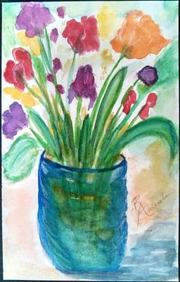 Painting - L.a. Bouquet by Rosemary Augustine