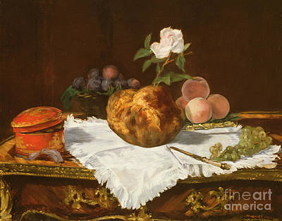Table Cloth Painting - La Brioche by Edouard Manet