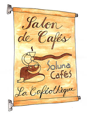 Painting - La Cafeotheque by Anna Elkins