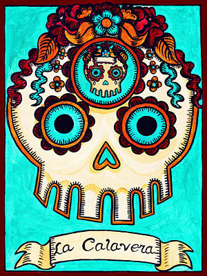 Loteria Painting - La Calavera - The Skull by Mix Luera