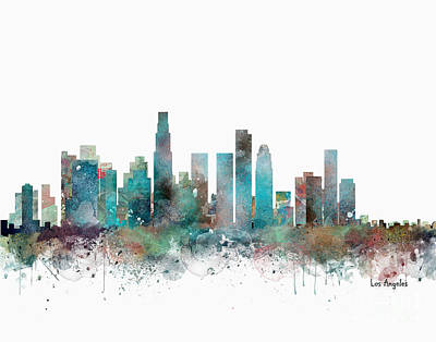 Painting - La California Skyline  by Bleu Bri
