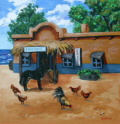 Painting - La Cantina by Karon Melillo DeVega