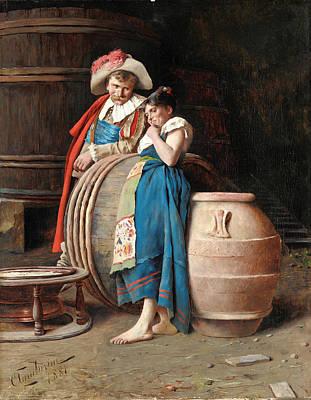 Arnaldo Painting - La Cantiniera by Arnaldo Tamburini