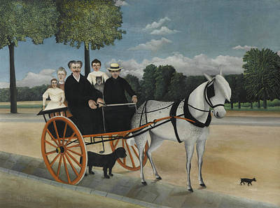 Painting - La Carriole Du Pere Junier by Henri Rousseau