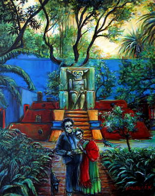 Painting - La Casa Azul by Heather Calderon