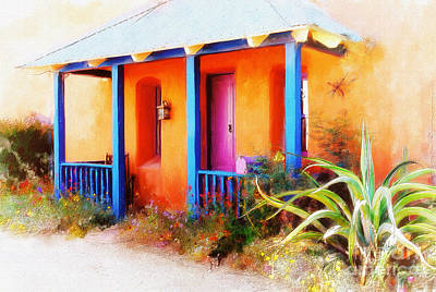 The Houses Digital Art - La Casa Del Gato by Lois Bryan